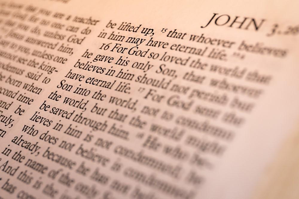 página de la Biblia